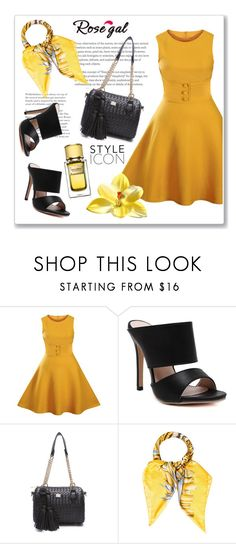 """Rosegal 1."" by ruza-b-s ❤ liked on Polyvore featuring Salvatore Ferragamo, Dolce&Gabbana and vintage"
