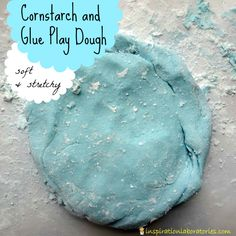 Cornstarch and Glue Play Dough - soft and stretchy and so much fun!