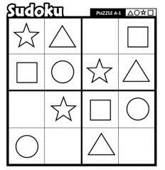 Fun for younger kids! Numbers Preschool, Preschool Math, Preschool Worksheets, Kindergarten Activities, English Worksheets For Kids, Math Division Worksheets, Mental Maths Worksheets, Sudoku Puzzles, Logic Puzzles