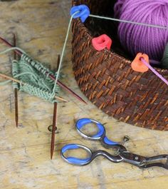 Add crafty Sugru to your knitting basket & keep your wool from tangling.