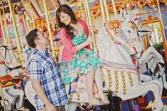 Who says chivalry is a thing of the past? #Disneyland #engagement #carousel