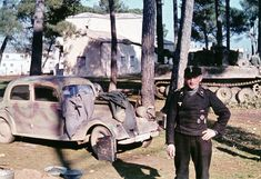 World War II in Color: Tiger and Vehicle of sPz.Abt.508 in Italy