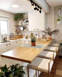 Kitchen Room Design, Home Room Design, Kitchen Sets, Modern Kitchen Design, Home Decor Kitchen, Interior Design Kitchen, Home Kitchens, Dining Room Design, Room Kitchen