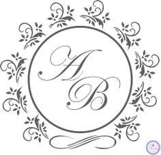 Monograma, Brasão, Casamento. Peça já o seu!  www.elo7.com.br/papelemagia apapelmagia@gmail.com http://apapelemagia.blogspot.com.br/
