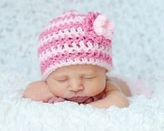 Emma Beanie Hat with Flower Stack Crochet PATTERN All Sizes from Baby to Adult  $3.99