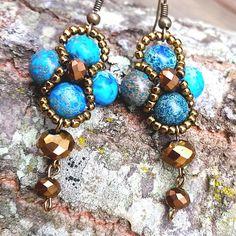 Items similar to Ravenclaw Earrings Blue Earrings, Clip On Earrings, Drop Earrings, Harry Potter Earrings, Harry Potter Gifts, Nickel Free Earrings, Ravenclaw, Nerd, Geek Stuff