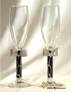 Duo copas brindis  #blanco#