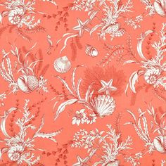 P. Kaufmann By the Sea Coral Fabric