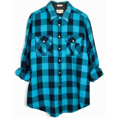 Vintage Buffalo Plaid Flannel Shirt Aqua Blue Black Plaid ($36) ❤ liked on Polyvore featuring tops, shirts, flannel, blue, etsy, plaid top, vintage shirts, vintage tops, plaid shirts and buffalo check shirt