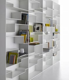 MDF Italia – Melody Bookcase by Neuland – Home Trends 2020 Unique Bookshelves, Bookshelf Design, Home Office Design, House Design, Apartment Design, Apartment Interior, Office Interiors, Shelving, Furniture Design