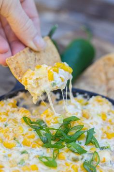 Hot Jalapeño Corn Dip - Jalapeños, sweet corn, and monterey jack cheese in one hot skillet of dip.