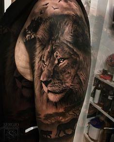 """>>""""Cuidado por donde caminas hijo""""... """"cuidado por donde caminas tú, padre. Recuerda que yo sigo tus pasos."""" 🌍 #t #tattoo #tatuaje #ink #spain #españa #love #boy #lion #animal #animals #malaga"""