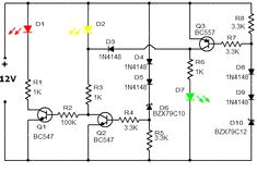 Simple High Power LED 12 Volt Driver circuit , by using one transistor and other cheap components. See circuit and making this tested Driver Circuit Dc Circuit, Circuit Diagram, Electronics Basics, Electronics Projects, First Transistor, Battery Charger Circuit, Monitor, Bar Graphs, Circuit Projects