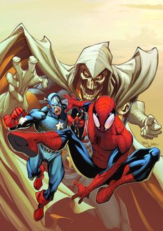 Taskmaster, Captain America and Spider-Man - Carlos Gomez