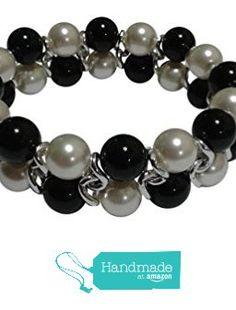 White Simulated Pearl, Black Onyx Bracelet Crystals From Swarovski from Pam Handmade Jewelry and Accessories https://www.amazon.com/dp/B0197E3A42/ref=hnd_sw_r_pi_dp_6cZzyb8DT7F58 #handmadeatamazon