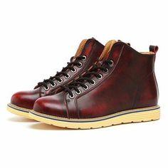 Botas de estilo británico de cuero de gran tamaño - NewChic Móvil.