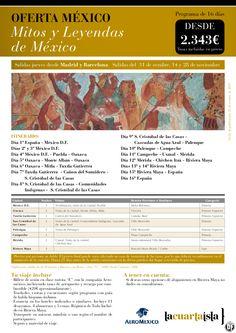 Mitos y Leyendas de México.16 días desde 2.343€ tax incl.Salidas desde Mad y Bcn - http://zocotours.com/mitos-y-leyendas-de-mexico-16-dias-desde-2-343e-tax-incl-salidas-desde-mad-y-bcn-2/