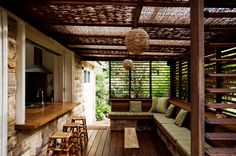 Indoor outdoor kitchen