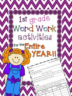 Great Word Work packet for the whole year! Each activity comes with a SHORT STORY that introduces the word families in context. Kids identify, sort, create their own words, write sentences, and alphabetize words.