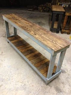 Table made from barn wood