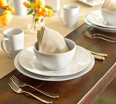 on my wish list in life, i would love a 10-12 pc all white, classic dish set. i never registered for china when getting married or anything like that. i love the classic and timeless nature of the white round dishes. and i love that you can decorate the table with whatever season it is. this wish shall hopefully come true one day.