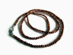 Dainty Goldstone & Sterling Silver Necklace by DropsfromJupiter