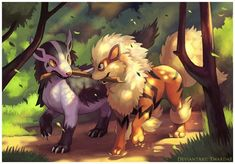 arcanine, mightyena, and pokemon Bild