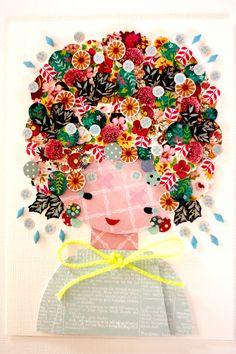 Paper Doll - 025. Original Paper Collage.