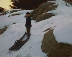 "Jeremy Lipking - The Sled (only 11"" x 14"")"
