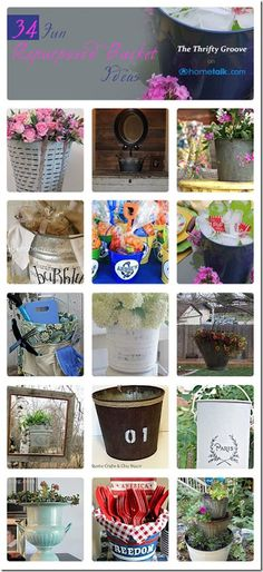 24 Fun Repurposed Bucket Ideas | curated by 'Thrifty Groove' blog!