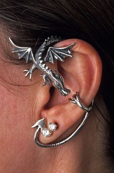 Marty Magic Store - Dragon Guardian Ear Wrap Silver, $159.00 (http://www.martymagic.com/products/Dragon-Guardian-Ear-Wrap.html)