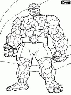Top 20 Free Printable Superhero Coloring Pages Online | Pinterest ...