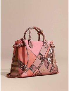 4fe5dc69b8a0 Burberry The Medium Banner in Patchwork Leather and Python Burberry Bolsas