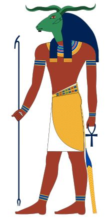 Who is KHNUM? (In reality, he was an Egyptian god, usually depicted with the head of a ram.  God of creation and the waters.)