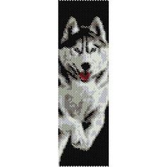 Instant Download Beading Pattern Peyote Stitch Bracelet Siberian Husky Seed Bead Cuff