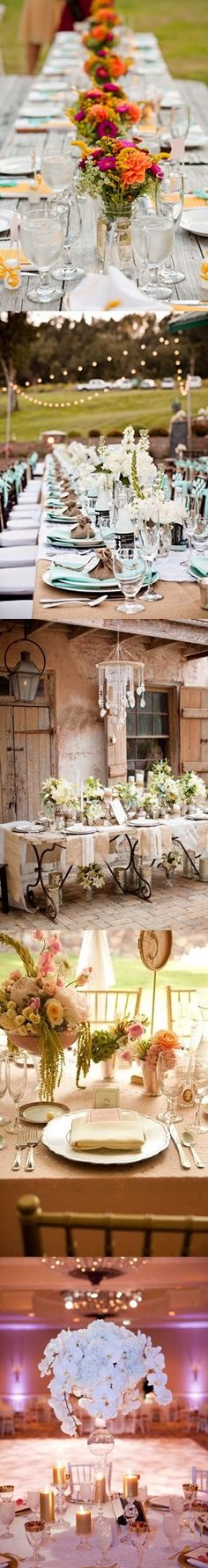 Tablescapes - love the second from top Wedding Guest Book, Wedding Table, Fall Wedding, Rustic Wedding, Dream Wedding, Table Setting Inspiration, Wedding Inspiration, Wedding Locations, Wedding Events