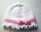 Knitting Pattern - White Cloche Hat Pattern - Knitted Hat Pattern - the FAYE Hat (Newborn Baby Toddler Child & Adult sizes incl'd)