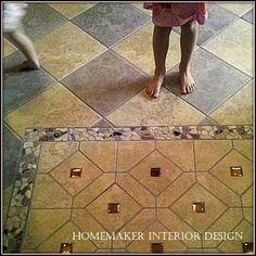 Kitchen floor tile design. #tilefloor #tiledesign