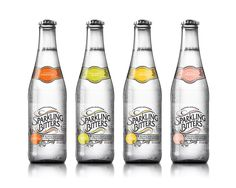 Sparkling Bitters Water, Variety Pack, 12 oz glass-bottle (Pack of 12)