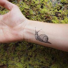 Snail temporary tattoo! Available on etsy.com/shop/naturetats #Regram via @naturetats