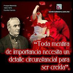 #EfemérideLiteraria En 1803 nace #ProsperMérimée, autor de la #novela #Carmen #Literatura www.sombradelaire.com.mx