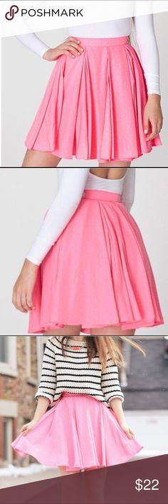 American Apparel pink skater flare skirt 😍🦄 This skirt is tooo cute! All season skirt. Pair with a crop and sandals for spring summer. And some opaque tights for colder weather. Versatile, fun, flirty🤩 American Apparel Skirts Circle & Skater