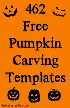 462 Free Halloween Pumpkin Carving Templates