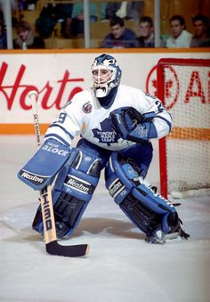 "One of My favourite goalies of all time.Felix ""The Cat"" Potvin, Toronto Maple Leafs Goalie Gear, Goalie Mask, Hockey Goalie, Field Hockey, Ice Hockey Teams, Hockey Stuff, Montreal Canadiens, Maple Leafs Hockey, Hockey Rules"