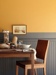 Bright yellow dinging room #color #DIY #inspo
