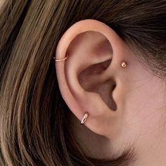 Bijoux Piercing Septum, Innenohr Piercing, Spiderbite Piercings, Upper Ear Piercing, Ear Peircings, Forward Helix Piercing, Forward Helix Earrings, Piercings For Small Ears, Small Ear Gauges