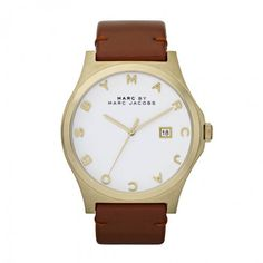 Marc by Marc Jacobs Ladies Henry Leather Watch