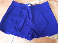 Mink Shorts Brand New With Tags Cobalt Blue Womens Size 10  | eBay