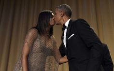 President Barack Obama, right, kisses first lady Michelle Obama, left, after he spoke at the annual White House Correspondents' Association dinner at the Washington Hilton in Washington, Saturday, April 30, 2016. (Photo: Susan Walsh/AP)