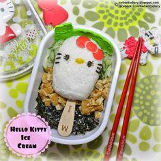 Karenwee's Bento Diary: Bento2014#July01~Hello Kitty Ice-cream